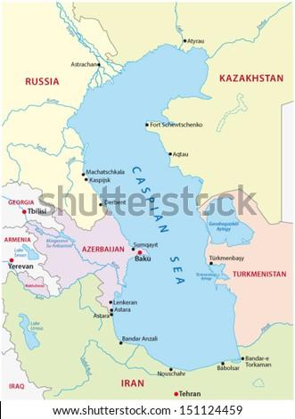 Caspian Sea Stock Images RoyaltyFree Images Vectors Shutterstock - Caspian sea world map