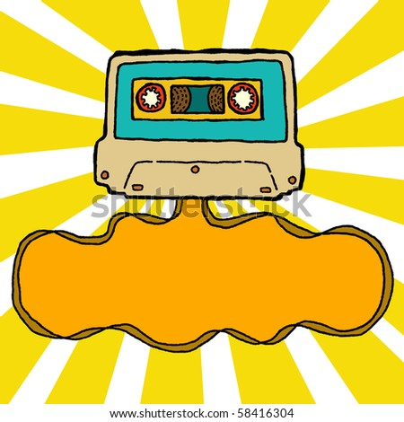 cassette background - stock vector
