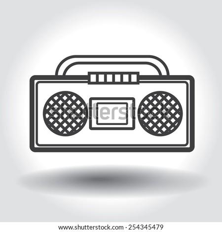 Cassette music player - stock vector