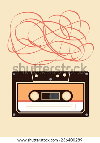 cassette tape vector/illustration