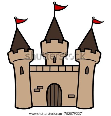 castle vector illustration medieval kings castle stock vector 2018 rh shutterstock com castle victorian home plans castle victoria