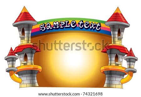 castle border - stock vector