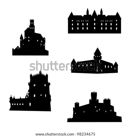 Castle collection - stock vector