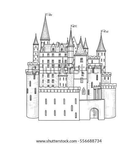 how to draw disneyland castle