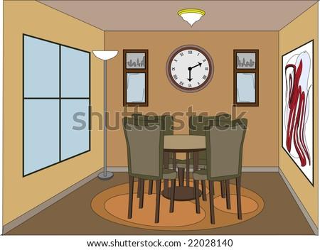 Living Room Cartoons Stock Photos,