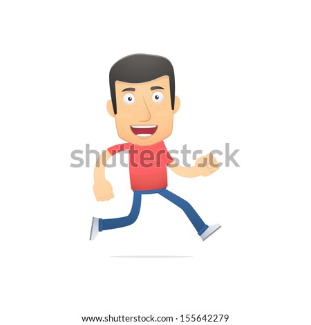 casual man in various poses for use in advertising, presentations, brochures, blogs, documents and forms, etc. - stock vector