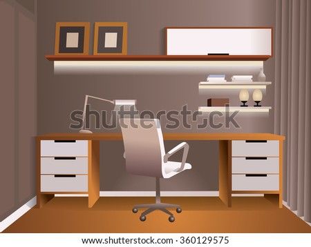 Casual office for for pleasant and comfortable work - stock vector