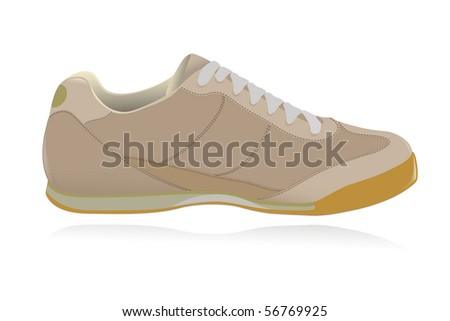 Casual shoe, sneakers. Vector-Illustration - stock vector