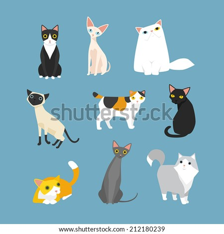 cat - stock vector