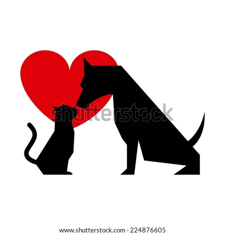 cat and dog graphic design , vector illustration