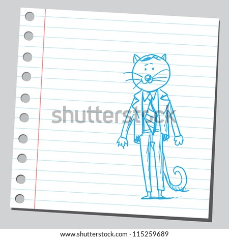 Cat businessman