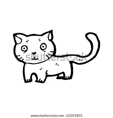 cat cartoon - stock vector