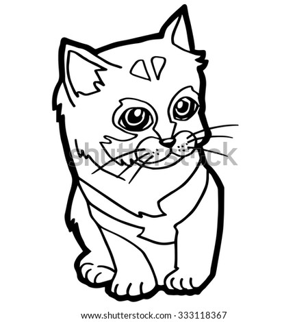 Cat Coloring Page For Kid