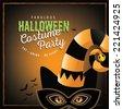 Cat costume Halloween party design EPS 10 vector - stock vector