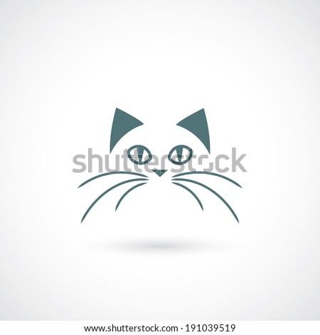Cat face - vector illustration - stock vector