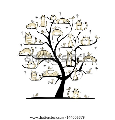Cat family tree for your design