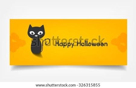 Cat Happy Halloween - stock vector