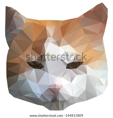 Geometric Cat Head Cat Head Geometrical Vector