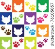 Cat Lover Pattern - stock vector