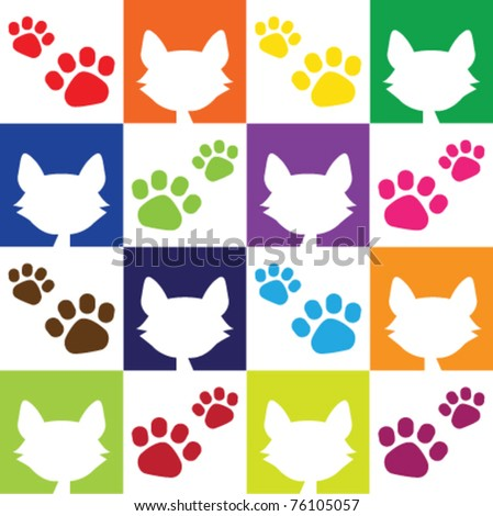 Cat Lover Pattern - stock vector