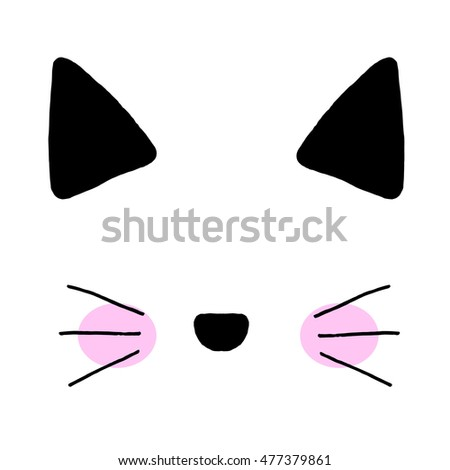 Cat on a white background. Cat print,cat graphic,cat illustration,cat design,cat graphic,cat wallpaper,adorable cat,Funny cat,T-shirt Print,i love you,Valentine's Day,animal print, pink cat,cat vector