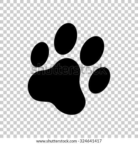 cat paw print vector icon black stock vector hd royalty free rh shutterstock com paw print vector art free paw print vector png