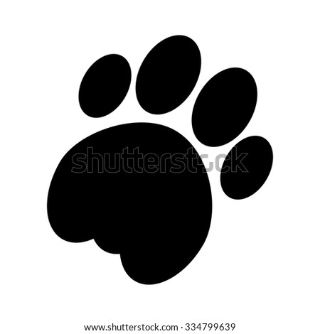 cat paw vector icon