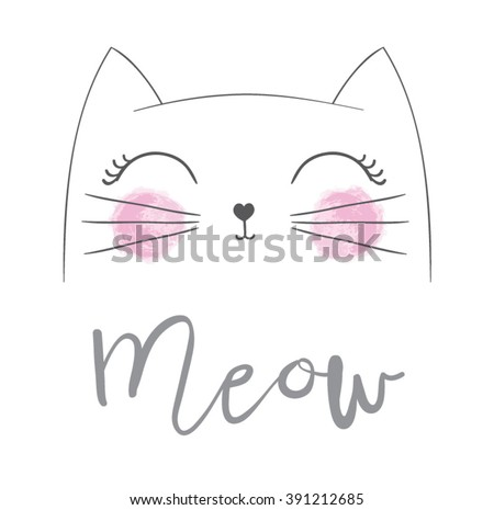 Cat print,cat graphic,cat illustration,canvas print,cat pattern,cat design,cat graphic,cat wallpaper,adorable cat,Funny cat,T-shirt Print,i love you,Valentine's Day,animal print,pink cat,cat vector