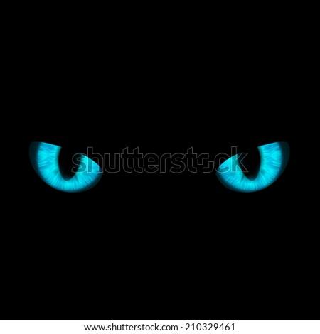 cat's eyes - stock vector