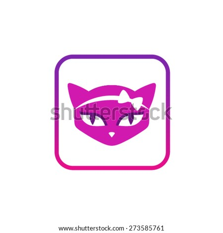Cat vector symbol icon - stock vector