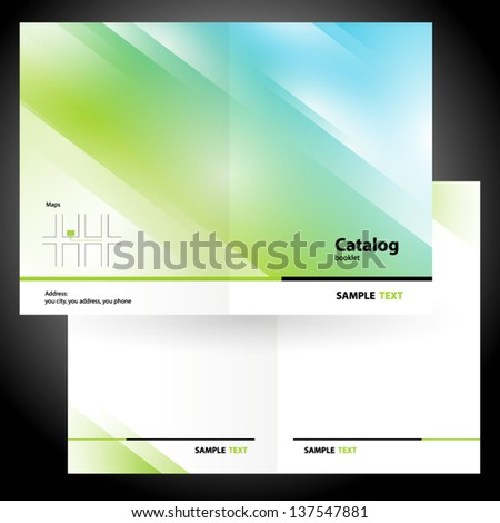catalog booklet folder brochure colorful design vector gradient green - stock vector