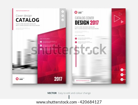 Catalog design corporate business annual report stock Modern design magazine