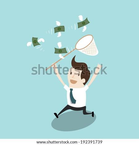 Catch money - stock vector