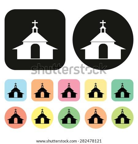 catholic church icon. vector - stock vector