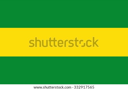 Cauca vector flag, Colombia. Flag of Colombian Department Cauca.  - stock vector