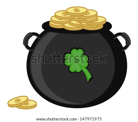 Cauldron on St. Patrick's Day Vector Illustration - stock vector
