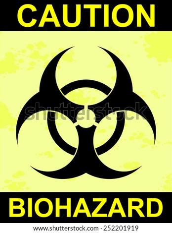 Caution Biohazard Sign  - stock vector