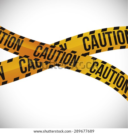 caution design over white background, vector illustration