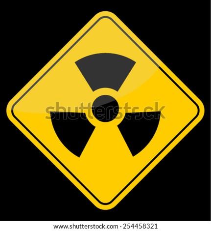 CAUTION, nuclear - stock vector