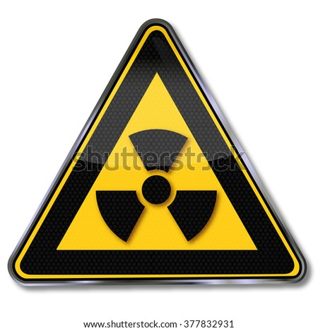 Caution radioactive substances and radiation - stock vector