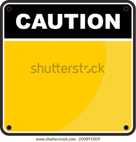 caution sign - stock vector