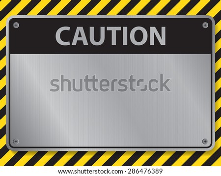 Caution sign, illustration vector - stock vector