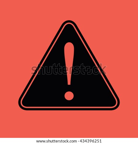 Caution sign vector icon