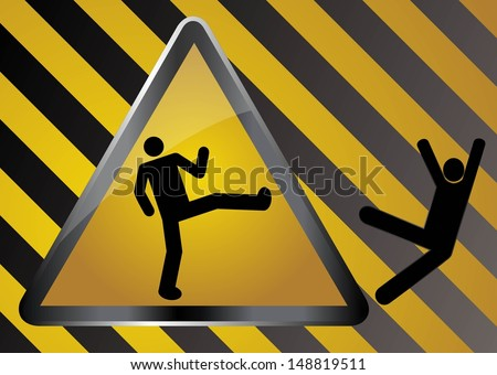 Caution - sparta - stock vector