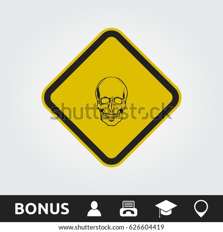 Caution Toxic Square Sign