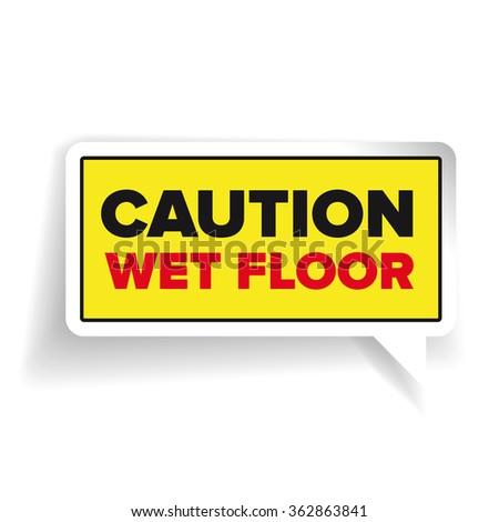 Caution Wet Floor Sign Vector Stock Vector 362863841 - Shutterstock