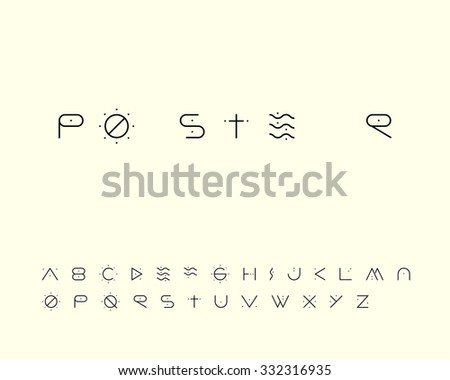 Cave Font - stock vector