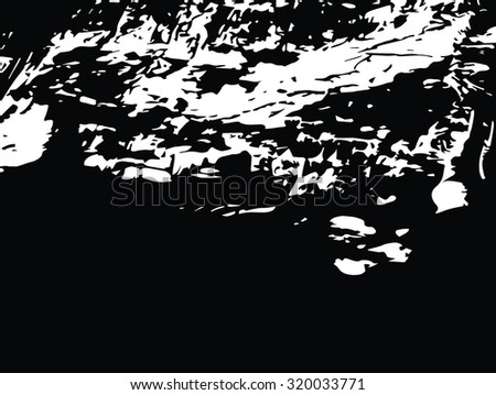 Cave with stalactites and stalagmites texture black and white