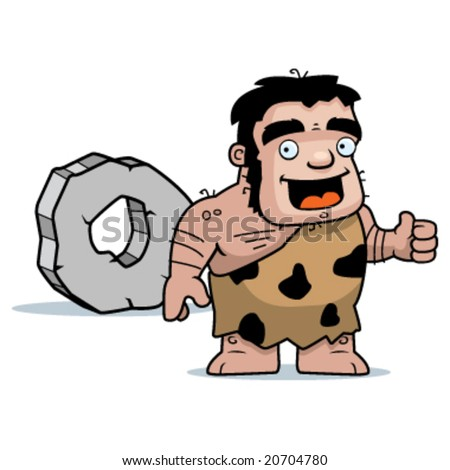 Image result for the invention of the wheel caveman