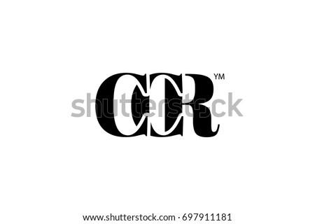 CCR Logo Branding Letter Vector Graphic Design Useful As App Icon Alphabet Combination
